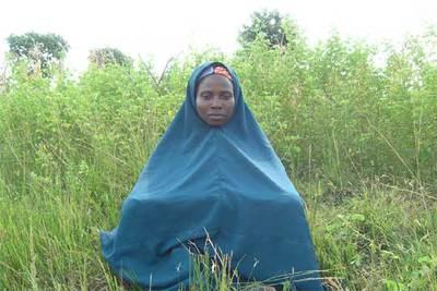 La nigeriana Amina Lawal, que estuvo a punto de ser lapidada por tener una hija sin estar casada.