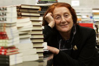 Rosa Regás, en la Biblioteca Nacional.