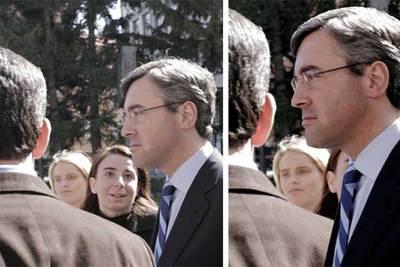La imagen captada por la cámara fotográfica (izquierda) y la manipulada.