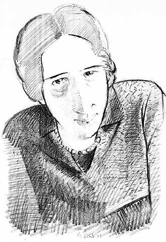 Hannah Arendt (Hannover, 1906-Nueva York, 1975), según Pericoli.