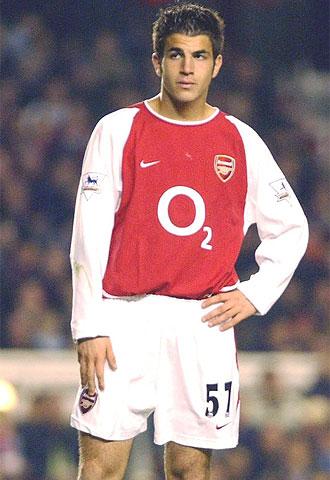 Cesc, durante un partido con el Arsenal.