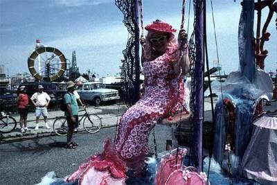 Una participante del  Mermaid Parade , el desfile de la Sirenita, que se celebra los veranos en la neoyorquina Coney Island (Estados Unidos).