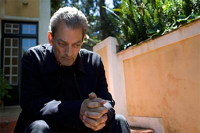 Paul Auster, en un descanso del rodaje.