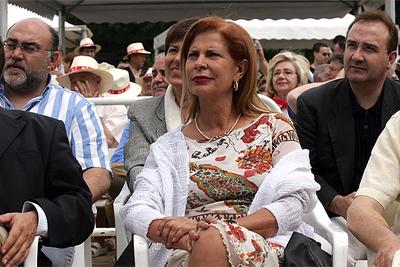 Carmen Alborch, el sábado, durante la fiesta de la rosa que celebró el PSPV en Valencia.