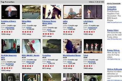 Imágenes de vídeos que se exponen en YouTube.