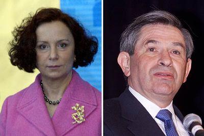 Ana Palacio y el presidente del Banco Mundial, Paul Wolfowitz.