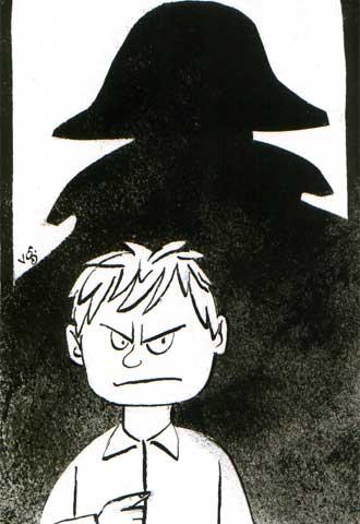 A la izquierda, dibujo de Pere Virgili