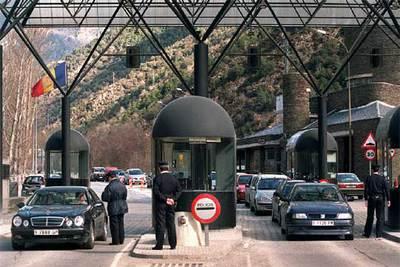 Imagen de la frontera entre España y Andorra.