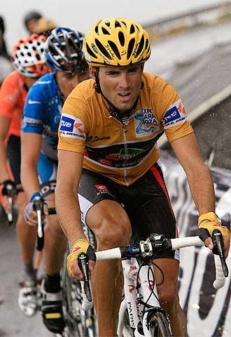 Alejandro Valverde, durante la etapa de ayer.