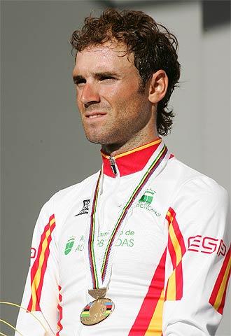 Valverde, con su medalla de bronce.