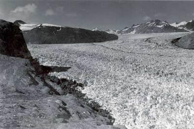 El glaciar Muir, en Alaska, fotografiado el 13 de agosto de 1941.