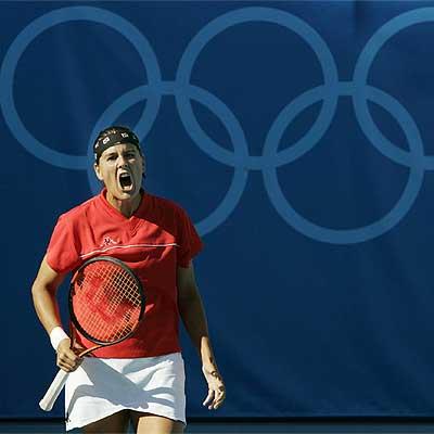 Conchita Martínez, durante los Juegos Olímpicos de Atenas 2004.