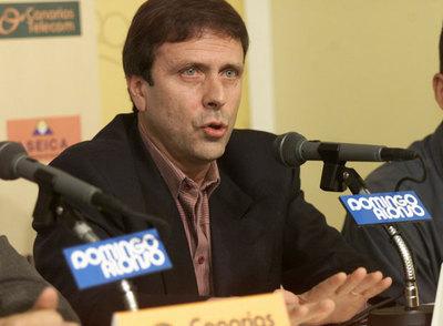 Eufemiano Fuentes, cuando era médico de la UD Las Palmas.