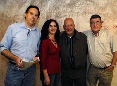 Josep, María Eugenia, Paco y Jesús, de la Asociación Barceloneta Alerta.