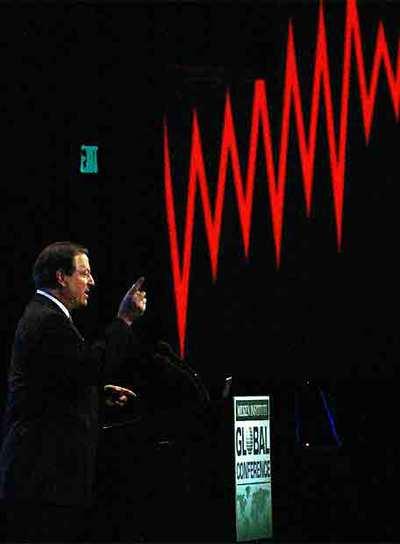 Al Gore, ex vicepresidente de Estados Unidos, diserta sobre el cambio climático.