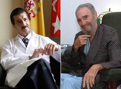 José Luis García Sabrido, durante una entrevista, y Fidel Castro, en una imagen de archivo.