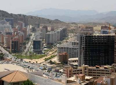 Vista de una de las zonas de expansión urbanística de La Vila Joiosa.