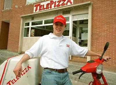 Un repartidor de Telepizza.