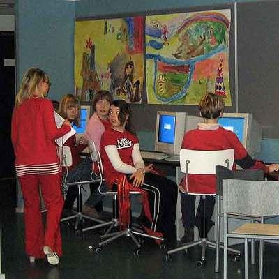 Alumnos de un colegio en Finlandia.