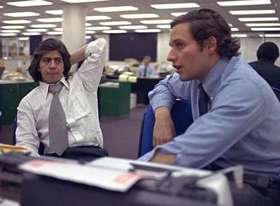 Los periodistas Carl Bernstein, izquierda, y Bob Woodward, que destaparon el 'caso Watergate' en 'The Washington Post'.