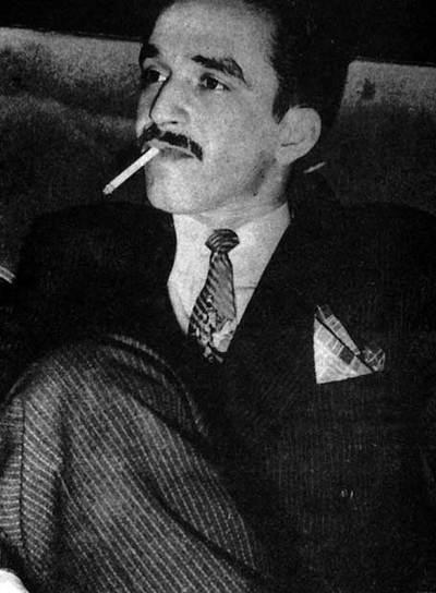 Gabriel García Márquez, en una foto publicada en el libro  García Márquez: el viaje a la semilla.