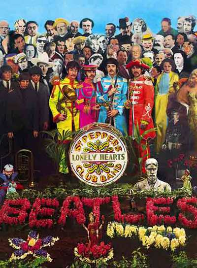 Portada del disco  Sgt. Pepper's lonely Hearts Club Band,  de los Beatles.