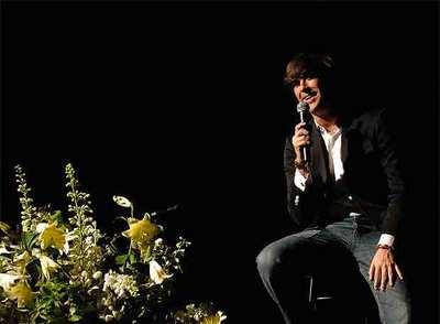 Manuel Lombo, durante su actuación.
