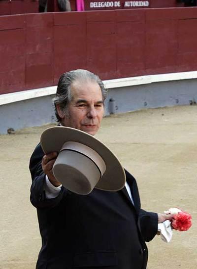 Rafael de Paula, en el homenaje que recibió en Las Ventas en 2006.