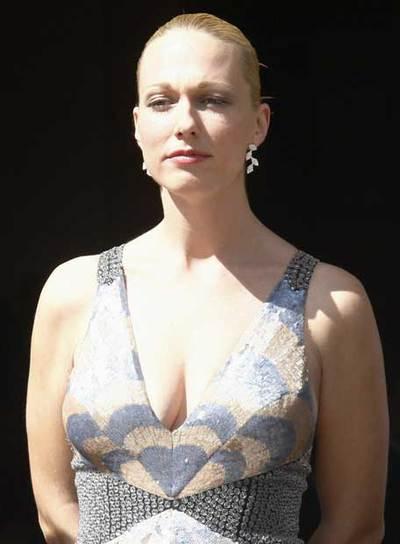 Katharina Wagner, a su llegada a la apertura del Festival de Bayreuth.