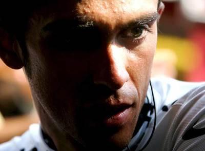 Alberto Contador, durante el pasado Tour.