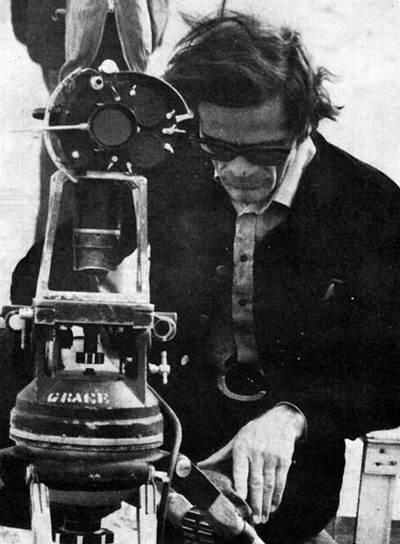 Pier Paolo Pasolini, durante un rodaje.