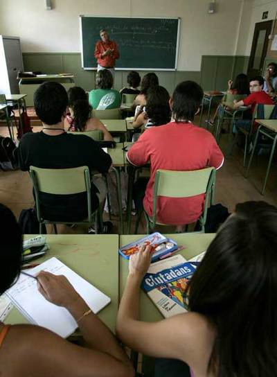Una clase de Educación para la Ciudadanía en el Instituto público Infanta de Aragon de Barcelona.