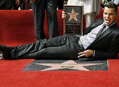 Ricky Martin, con su estrella.