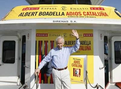 Albert Boadella, ayer, en la  golondrina  en la que anunció su adiós de la escena en Cataluña.