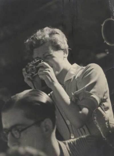 Gerda Taro en el frente de Guadalajara, en julio de 1937.