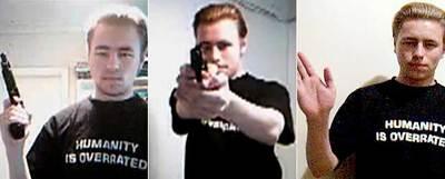 Secuencia del vídeo en el que el homicida anunciaba sus planes en Internet.