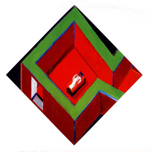Habitaci n roja y verde con figura edici n impresa el pa s - Habitacion roja y blanca ...