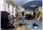 Una bomba causa daños en una inmobiliaria de Cangas
