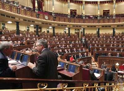 Un momento del debate de ayer en el Congreso de los Diputados.