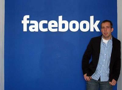 Javier Oliván, en la sede californiana de Facebook.