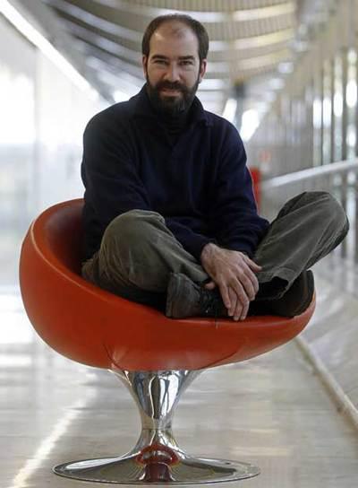 Jaime Rosales, director de  La soledad,  el lunes, en Barajas.