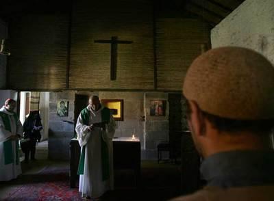 Ceremonia católica en Argelia.
