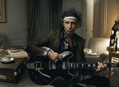 Keith Richards, fotografiado por Annie Leibovitz.