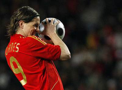 Fernando Torres, el miércoles durante el partido con Italia.
