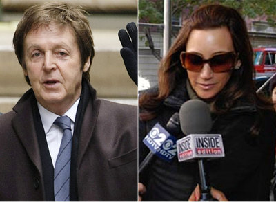 El ex beatle Paul McCartney y la empresaria Nancy Shekel.