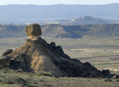 Desierto de Los Monegros, donde un grupo de inversores extranjeros quiere levantar 32 casinos.