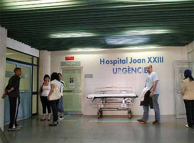 Servicio de Urgencias del hospital Joan XXIII, ayer por la tarde.