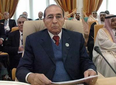 El ministro del Interior argelino, Noredin Yazid Zerhouni, en una reunión en Túnez en enero.
