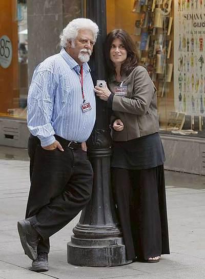 Spain Rodriguez y Phoebe Gloeckner, en Gijón.