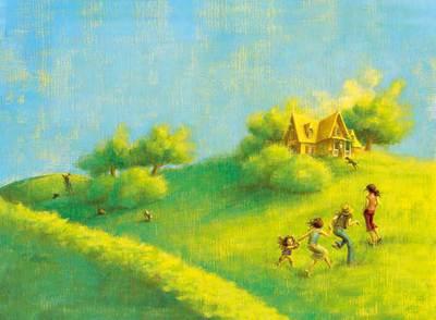 Ilustración de la novela 'Las hermanas Penderwick, de Almund Kunert y